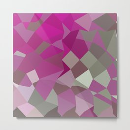 Dark Lavender Abstract Low Polygon Background Metal Print