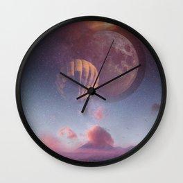 Cotton Candy Galaxy Wall Clock