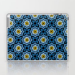 V6 Blue Traditional Moroccan Natural Leather - A4 Laptop & iPad Skin