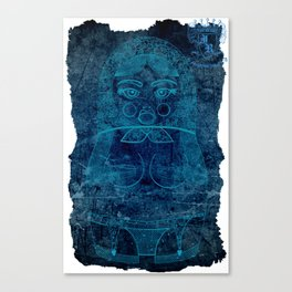 Blueprint X (background) Matryoshka / Nesting Doll Canvas Print