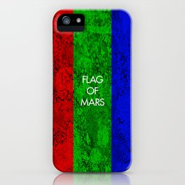 THE FLAG OF MARS iPhone Case