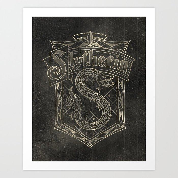Slytherin House Art Print