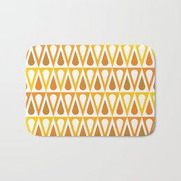 Geometric Pattern #57 (orange teardrop triangles) Bath Mat