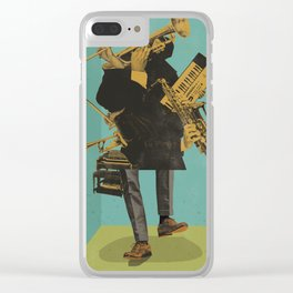 ABSTRACT JAZZ Clear iPhone Case