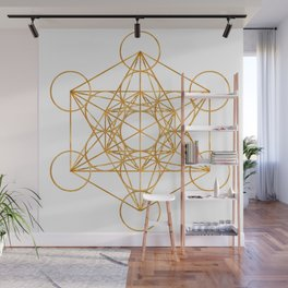 Metatron Cube Sacred Geometry Design Wall Mural