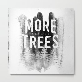 More trees Metal Print