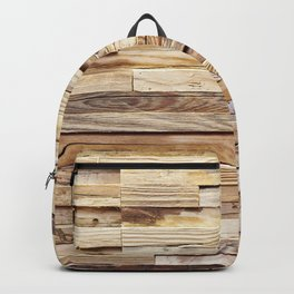 Background of old wooden pieces Backpack