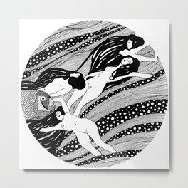 Gustav Klimt - Fish blood Metal Print