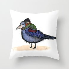 Jonathan's bird Throw Pillow