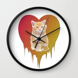 Cat in your heart Wall Clock