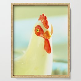 Rooster portrait Serving Tray