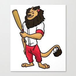 Baseball Pitcher Gift Sport Catcher Batter Canvas Print