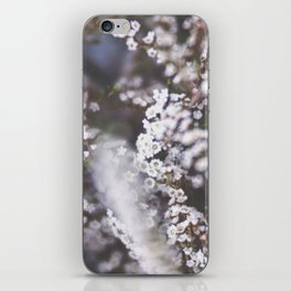 The Smallest White Flowers 01 iPhone Skin