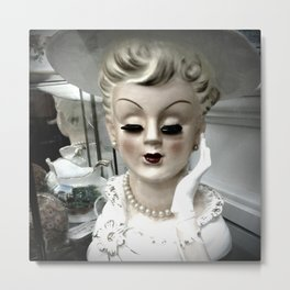 Porcelain Lady Metal Print