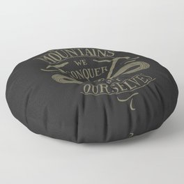 Hiking motivational quote Floor Pillow