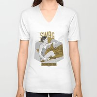 swag V-neck T-shirts featuring SWAG by RJ Artworks