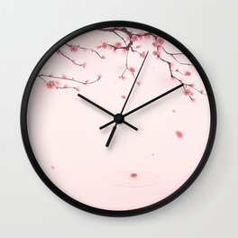 Oriental cherry blossom in spring 004 Wall Clock