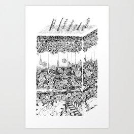 Anatomy Series: Skin Flowers Art Print