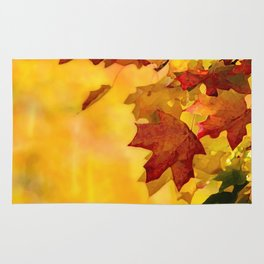 autumn leafs Rug