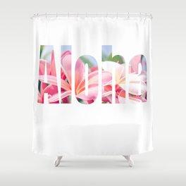 Aloha white Shower Curtain