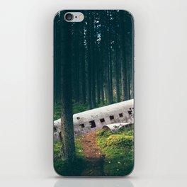 Surreal Iceland Plane Crash-Sólheimasandur Plane Crash in a Swedish Forest iPhone Skin