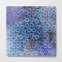 Pixel Hearts Metal Print