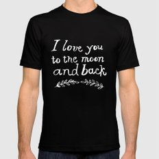 To the Moon and Back Mens Fitted Tee Black MEDIUM