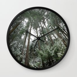 Winter Woods Wall Clock