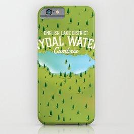 Rydal Water Cumbria Travel map iPhone Case