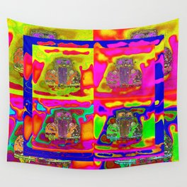 CRAZY NUT OLD CARS Wall Tapestry