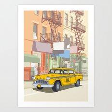 NEW YORK CAB Art Print
