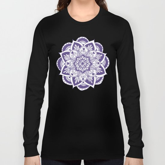 Ultraviolet Flower Mandala by julieerindesigns