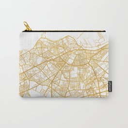 CASABLANCA MOROCCO CITY STREET MAP ART Carry-All Pouch