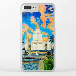 Oakland California LDS Temple Clear iPhone Case