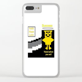 Successful Wise Owl of Faith Clear iPhone Case