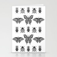 insects Stationery Cards featuring insects by Textile Candy