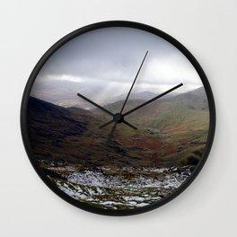 Mount Snowdon, Snowdonia, Wales Wall Clock