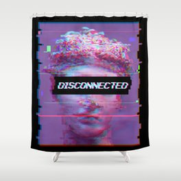 David Statue Anti-Social Aesthetic Art Gift Shower Curtain