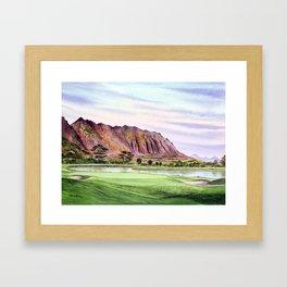 Koolau Golf Course Hawaii 16th Hole Framed Art Print
