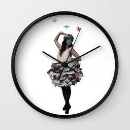 Paper doll Wall Clock