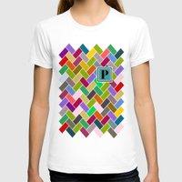 monogram T-shirts featuring  P Monogram by mailboxdisco
