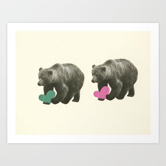 A Bear Romance Art Print