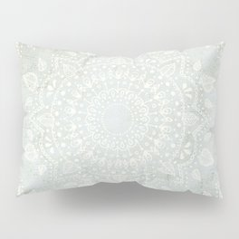 Powder Blue Mandala Pillow Sham
