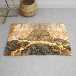 Coral Above the Sun Rug