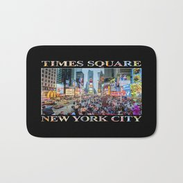 Times Square Sparkle (with type on black) Bath Mat
