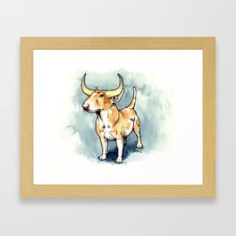 The Bull Terrier Framed Art Print