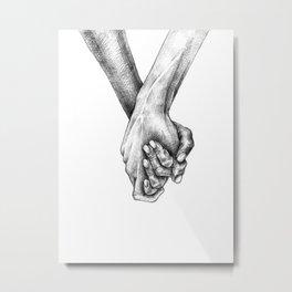 Holding hands Metal Print
