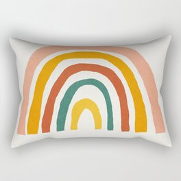 Rainbow, Mid century modern kids wall art, Nursery room Rectangular Pillow