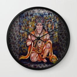 Hanuman Wall Clock