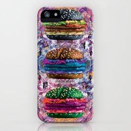 black burger doom zone iPhone Case